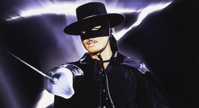 """Películas Pregunta Trivia: ¿Qué actor francés filmó una versión de """"El Zorro"""" en el año 1974?"""