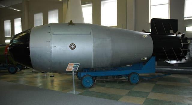 Historia Pregunta Trivia: ¿Qué bomba es causante de la mayor explosión provocada por seres humanos?