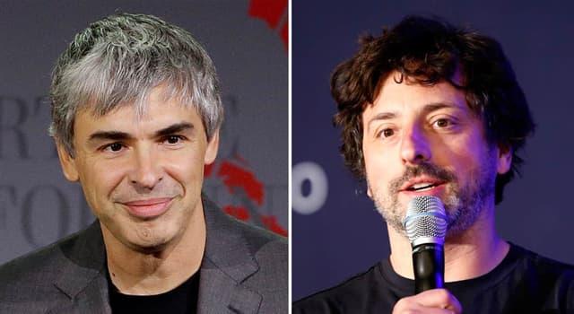 Cultura Pregunta Trivia: ¿Qué crearon Larry Page y Serguéi Brin?