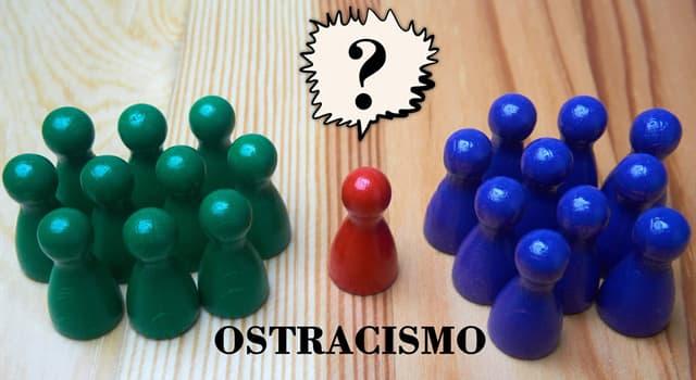 Cultura Pregunta Trivia: ¿Qué es el ostracismo?