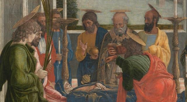 """Cultura Pregunta Trivia: ¿Qué pintor es autor de """"Tránsito de la Virgen"""" que aparece en la imagen?"""