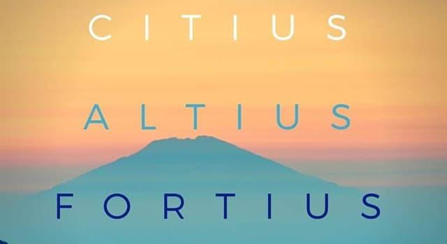 """Deporte Pregunta Trivia: ¿Quien fue el creador de la frase """"Citius,altius, fortius""""?"""