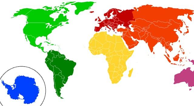 Geografía Pregunta Trivia: ¿Cuál de los siguientes no es un continente?