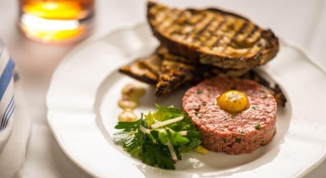 Cultura Pregunta Trivia: ¿En cuál de los siguientes platos se utiliza carne cruda en su preparación?