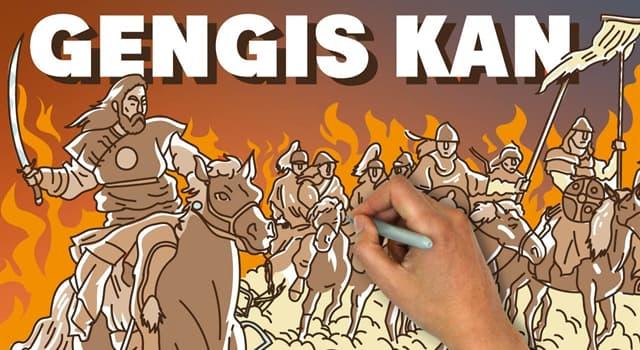 Historia Pregunta Trivia: ¿Cuál era el verdadero nombre de Gengis Kan?
