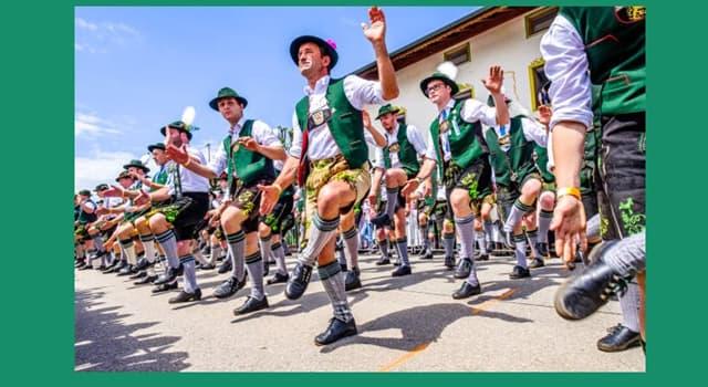 """Cultura Pregunta Trivia: ¿De qué país europeo es tradicional la danza llamada """"Schuhplattler""""?"""