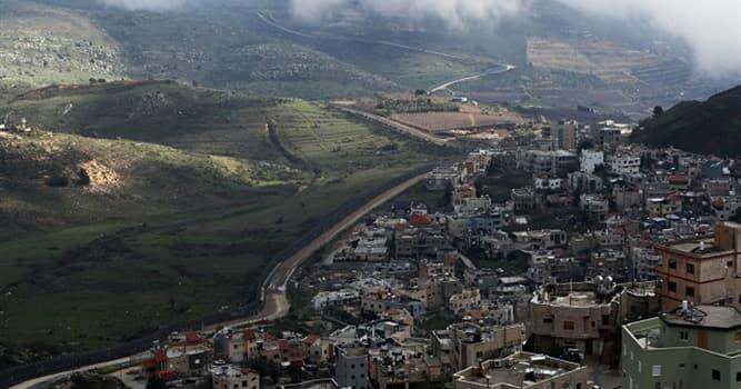 Geografía Pregunta Trivia: ¿En qué continente se localizan los Altos del Golán?