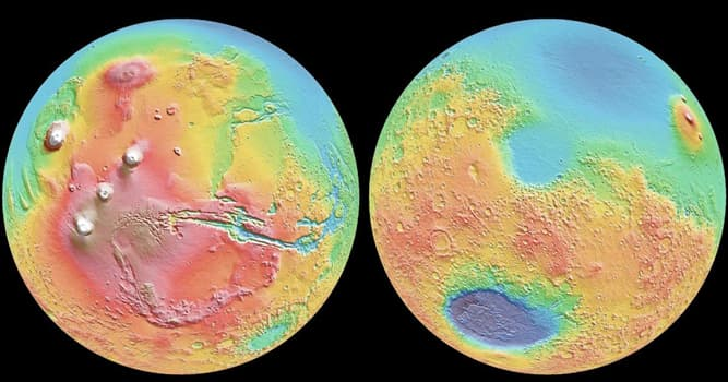Сiencia Pregunta Trivia: ¿En qué lugar se encuentran las elevaciones más grandes de Marte?