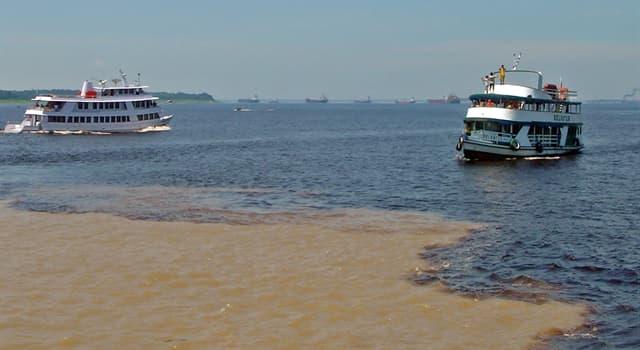 """Geografía Pregunta Trivia: ¿En qué río de Sudamérica se produce el llamado """"Encuentro de las Aguas""""?"""