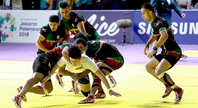 Deporte Pregunta Trivia: ¿Cuál de estos deportes es popular en Asia?