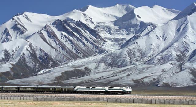 Geografía Pregunta Trivia: ¿En qué país está localizado el ferrocarril Qinghai–Tíbet?