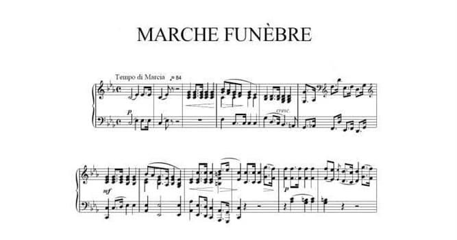"""Cultura Pregunta Trivia: ¿Qué autor y pianista fue enterrado con los sones de su propia """"Marcha fúnebre""""?"""
