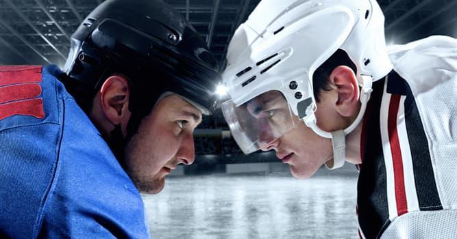 Deporte Pregunta Trivia: ¿Qué evento que ocurre habitualmente en el hockey sobre hielo está representando la pareja de la imagen?