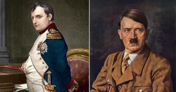 Historia Pregunta Trivia: ¿Qué tuvieron en común Napoleón Bonaparte y Adolf Hitler?