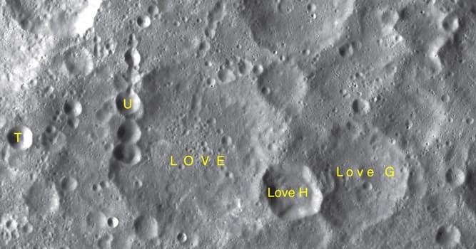 Сiencia Pregunta Trivia: ¿Dónde está el cráter Love?