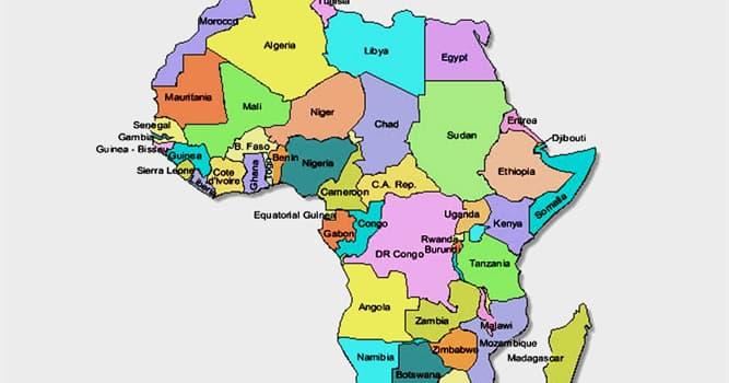 Geografía Pregunta Trivia: ¿Cuál es el segundo país africano más grande por su área?