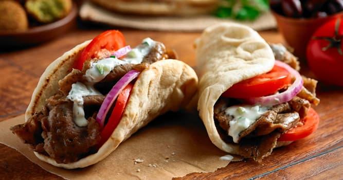 Cultura Pregunta Trivia: ¿En qué país es tradicional el gyro, una comida que consiste en carne asada servida en pan?