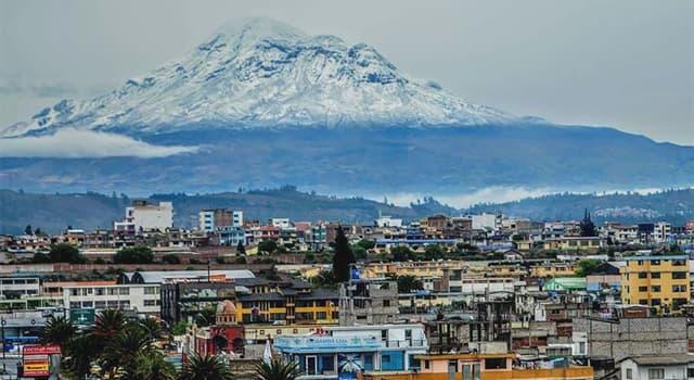 Geografía Pregunta Trivia: ¿En qué país queda la ciudad de Riobamba?