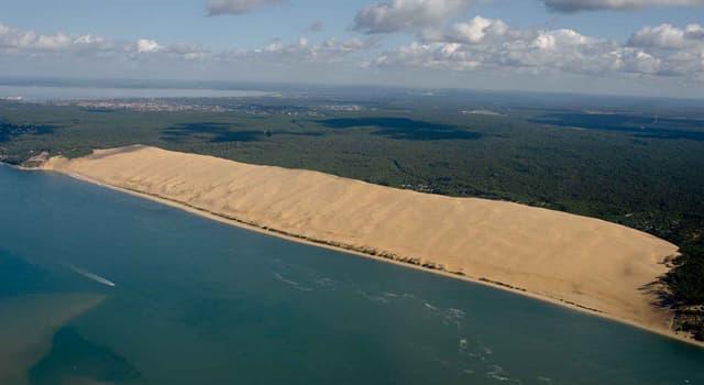 """Naturaleza Pregunta Trivia: ¿En qué país se localiza la """"Duna de Pilat"""" que aparece en la imagen?"""