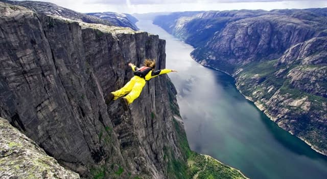 Sport Trivia Question: When did the extreme sport of BASE jumping start?