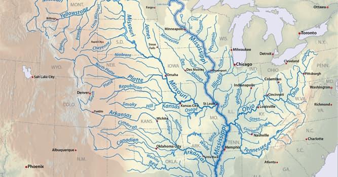 Geografía Pregunta Trivia: ¿Cuántos estados recorre el río Mississippi?