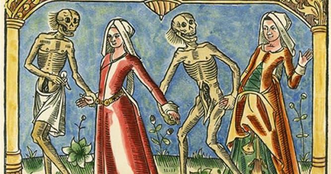 """historia Pytanie-Ciekawostka: Jaka choroba stała się powodem epidemii """"Czarna śmierć"""" w XIV wieku?"""