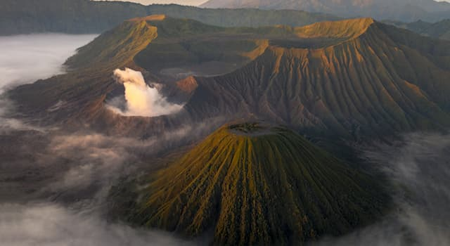 Nature Trivia Question: What is the official name for a composite volcano?