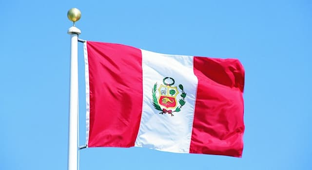 Geography Trivia Question: According to the legend, thanks to which bird is the national flag of Peru red and white?
