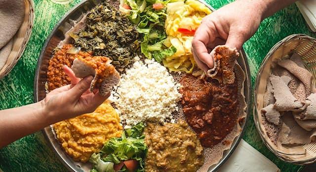 Общество Вопрос: Из чего готовится эфиопское блюдо ынджера?
