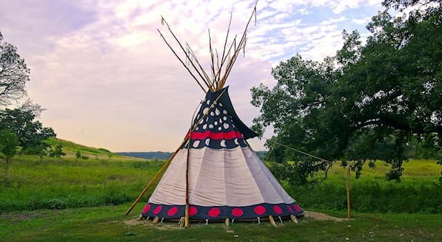 Общество Вопрос: Как называется традиционное переносное жилище кочевых индейцев Великих равнин в США?