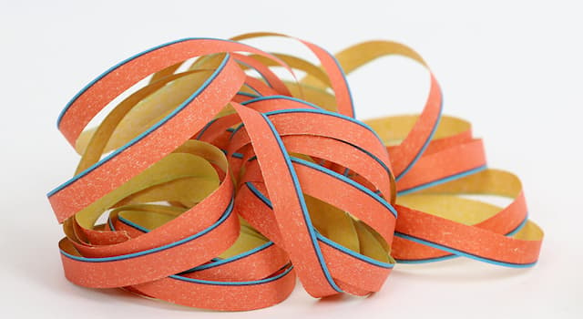 Society Trivia Question: Which of the following is a party accessory made out of long strips of paper, wound up in a roll?