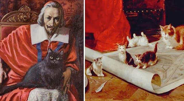 Общество Вопрос: Какая кличка была у знаменитого чёрного кота кардинала Ришелье?