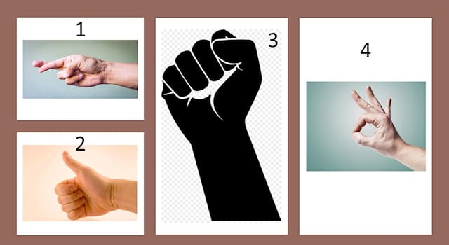 History Trivia Question: The gesture under which number was the sign of a greeting among communists?