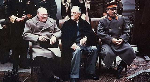 History Trivia Question: Who did NOT take part in the Yalta Conference of Allied powers in 1945?