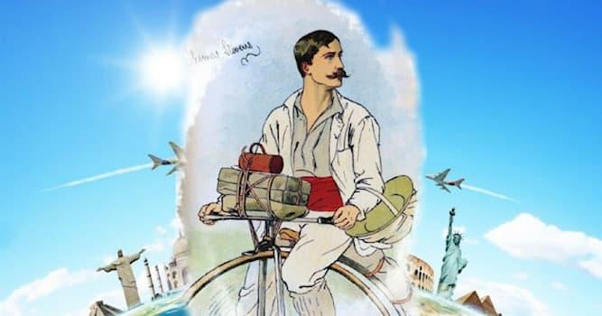 География Вопрос: Кто совершил первое кругосветное путешествие на велосипеде?