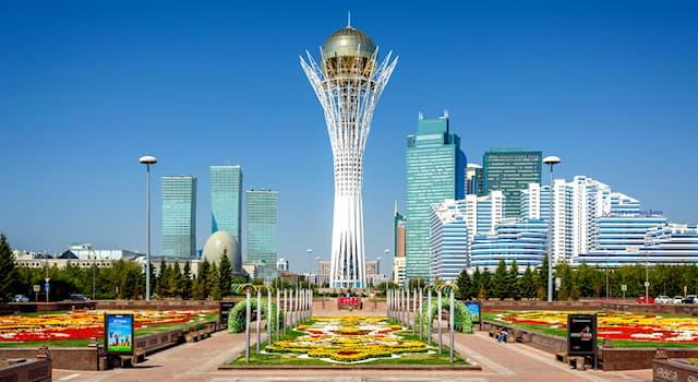 География Вопрос: Что означает название монумента Байтерек в столице Казахстана Нур-Султане?
