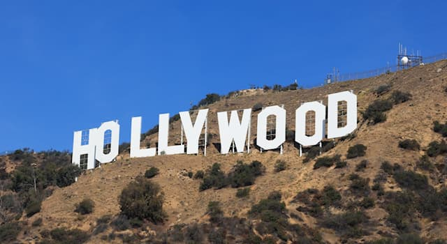 Society Trivia Question: In 1949, letters that spelt out which word were removed from the original Hollywood sign?