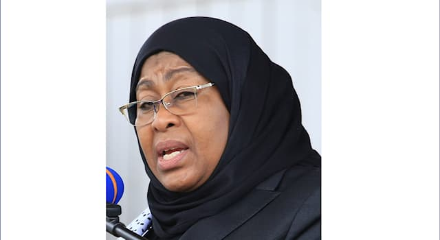 Society Trivia Question: In 2021, of which country is Samia Suluhu Hassan (pictured) the president?
