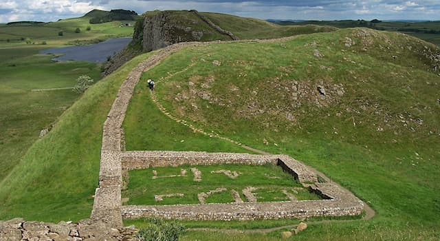 History Trivia Question: In which century was Hadrian's Wall built in Northern England?