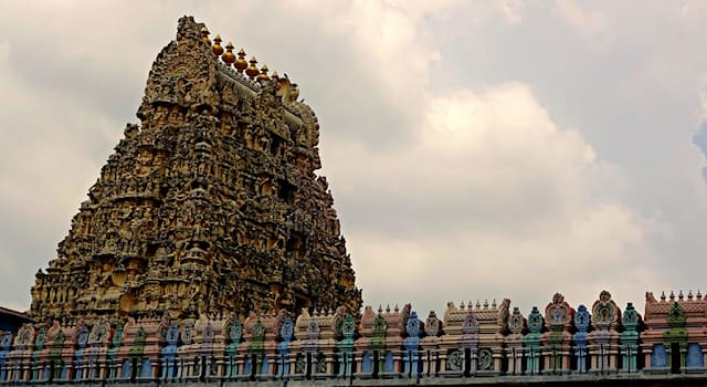 Geography Trivia Question: In which country is Ekambareswarar Temple located?