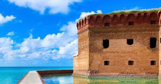 Geography Trivia Question: In which U.S. coastal state will you find this fort within a national park?
