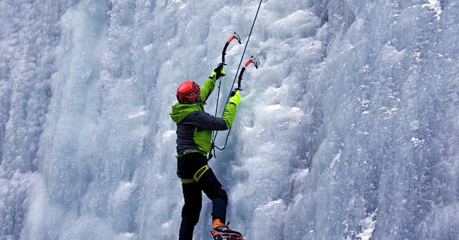 Sport Trivia Question: Which kind of sport involves ascending inclined ice formations?
