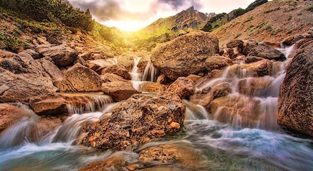 Природа Вопрос: Как называется место, где река берёт своё начало?