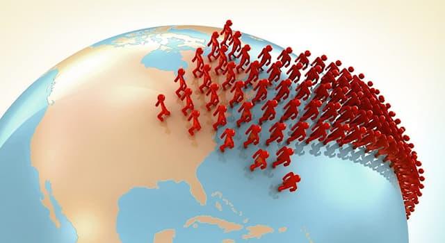 Общество Вопрос: Как называется переселение людей из одного региона в другой, иногда большими группами и на большие расстояния?