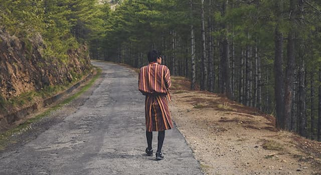 Culture Trivia Question: Which is the traditional and national dress for men in Bhutan?