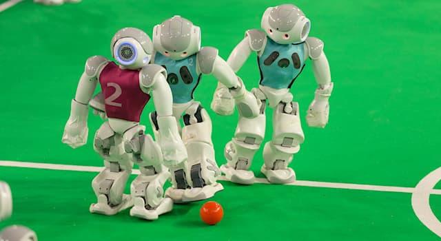 Спорт Вопрос: Как называются международные соревнования по футболу среди роботов?