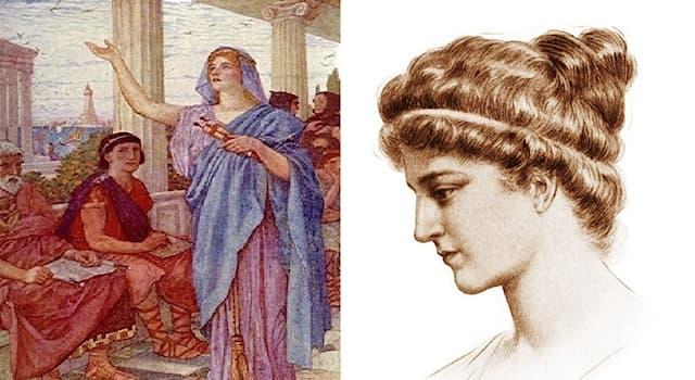 История Вопрос: Как звали женщину, которая, согласно сохранившимся источникам, была учителем Пифагора?