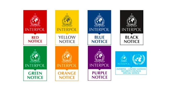 Society Trivia Question: What is the color of an Interpol notice, which means the warrant for the arrest and extradition of the suspect?