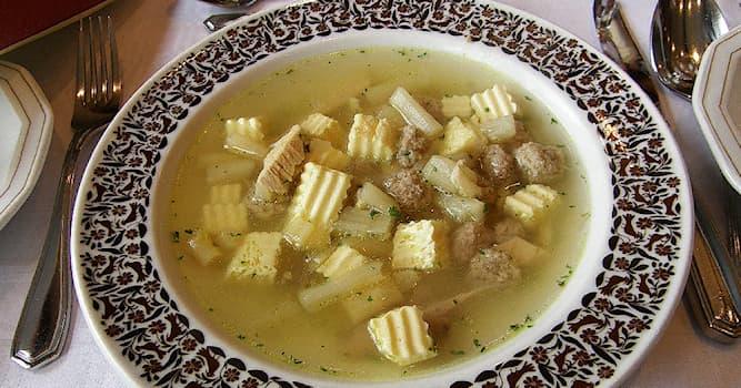 Культура Вопрос: Какое странное название из перечисленных носит немецкий суп на основе бульона с различными заправками?