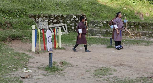 Спорт Вопрос: Какой вид спорта является национальным в Королевстве Бутан?
